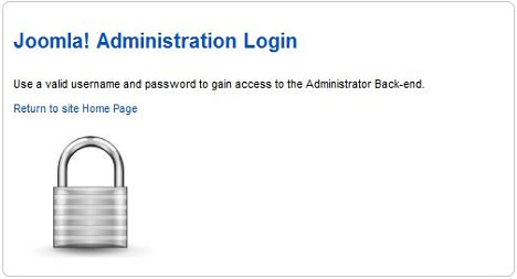Joomla admin login without the form