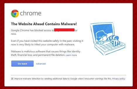 Chrome Website Warning