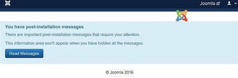Empty Joomla Backend
